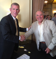 General Stanley McChrystal (L) with Professor Lawrence Dietz