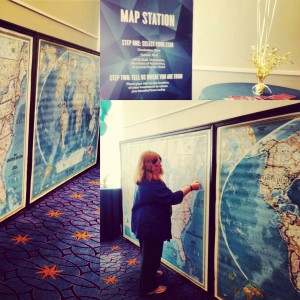 The map station at APUS Commencement 2015.