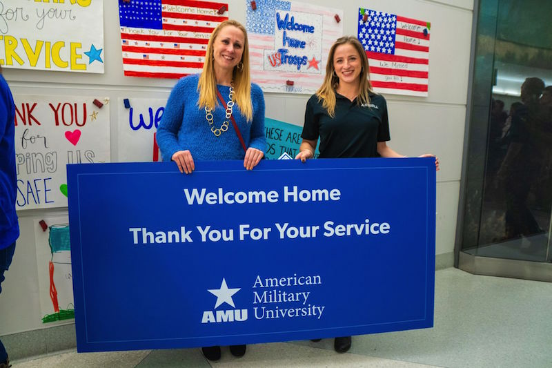 AMU Helps Give Returning Troops a Holiday Surprise