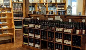 Flag Hill Distillery store shelves