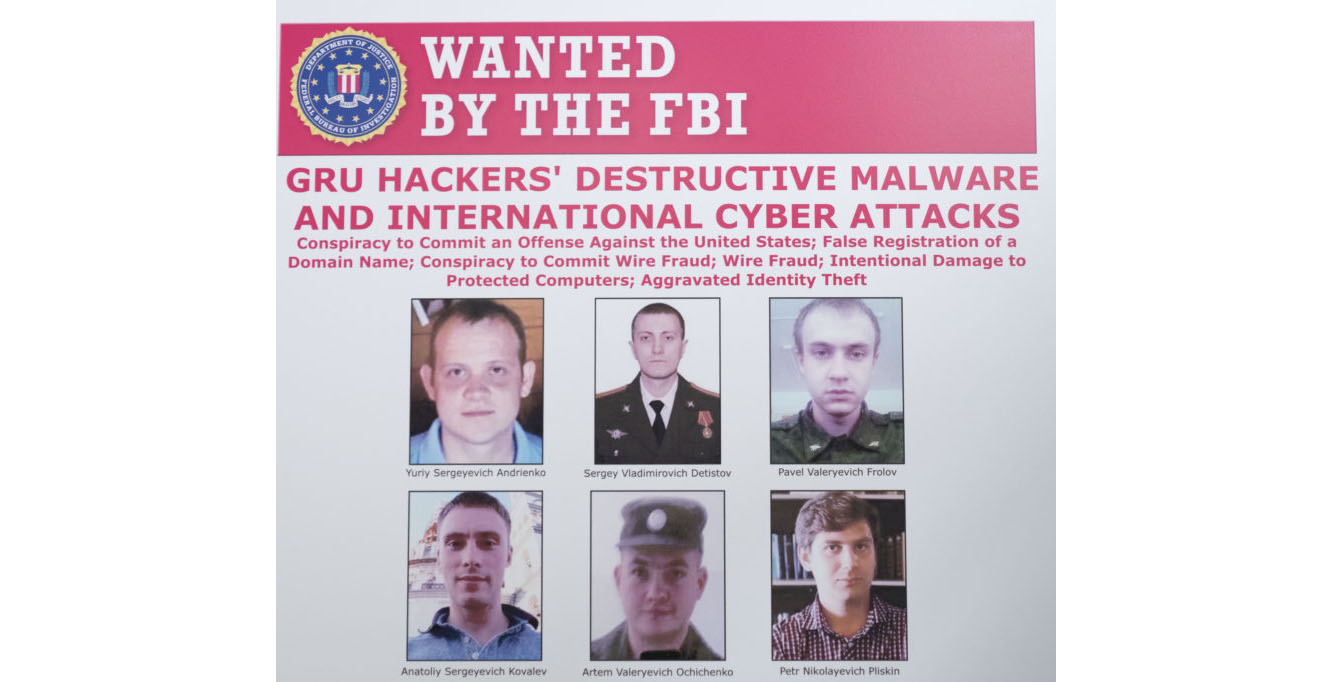 6 Russian officers charged in 'destructive' hacking campaign