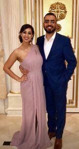 Mina Tradrus and wife