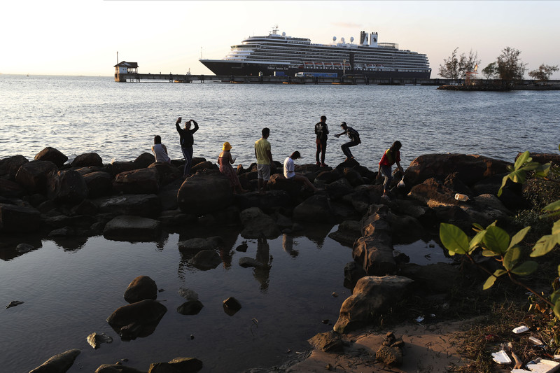Passengers Finally Begin Leaving Cruise Ship in Cambodia