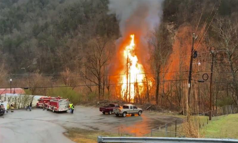 Fiery Train Derailment in Kentucky Spills Ethanol Into River