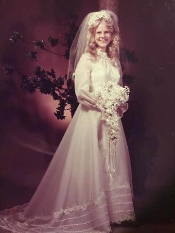 Debbie Williamson wedding gown