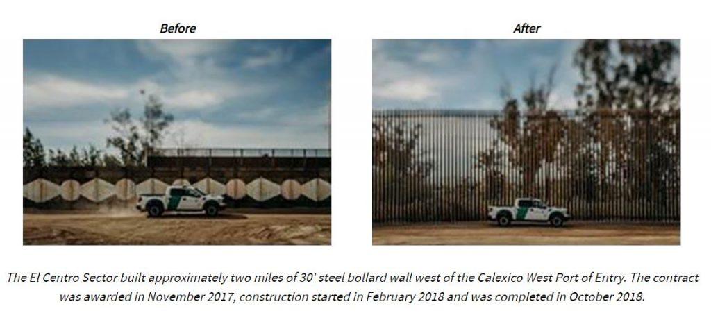 dhs border wall