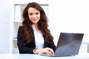 women behind computer