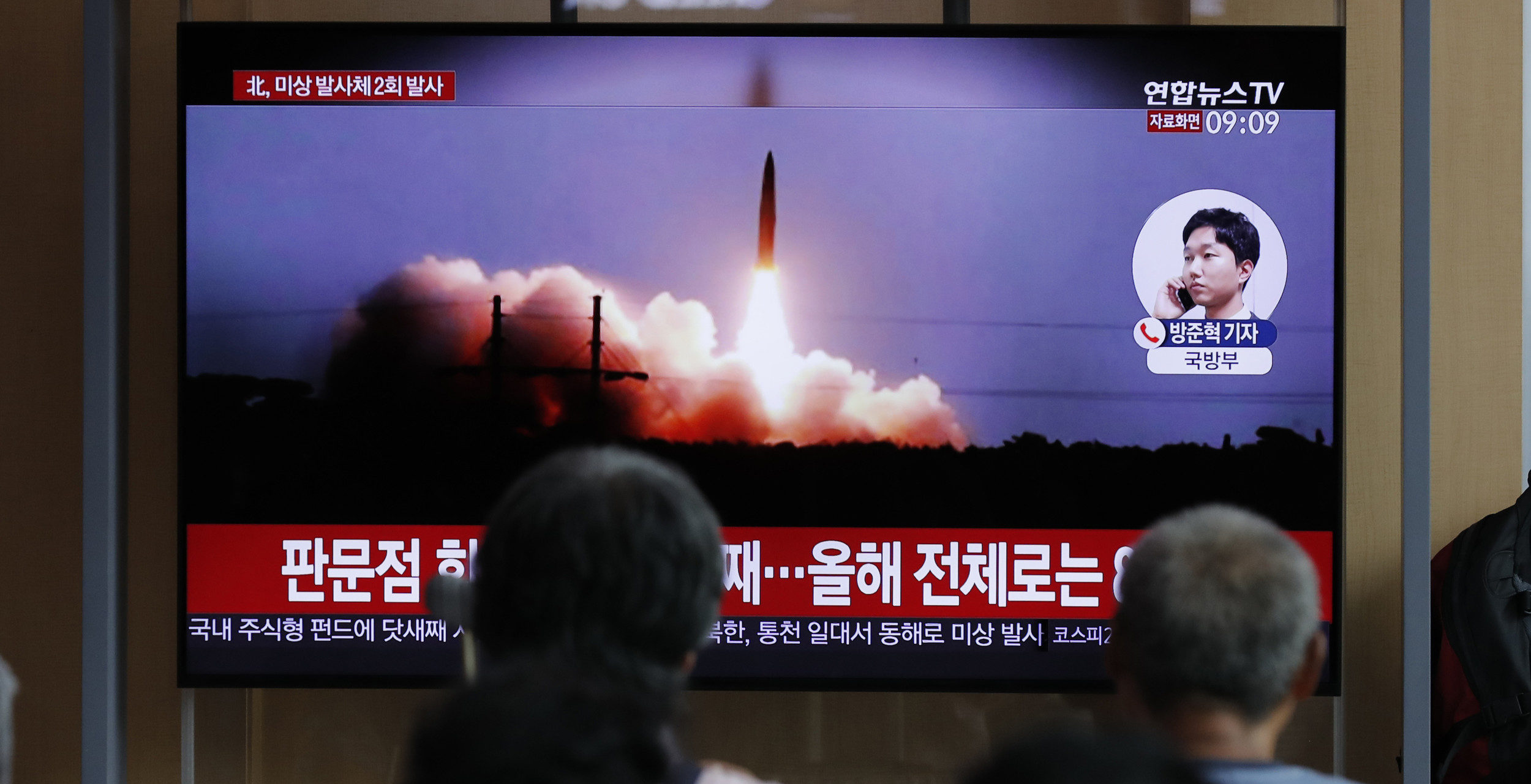 N. Korea fires more projectiles, rules out talks with South