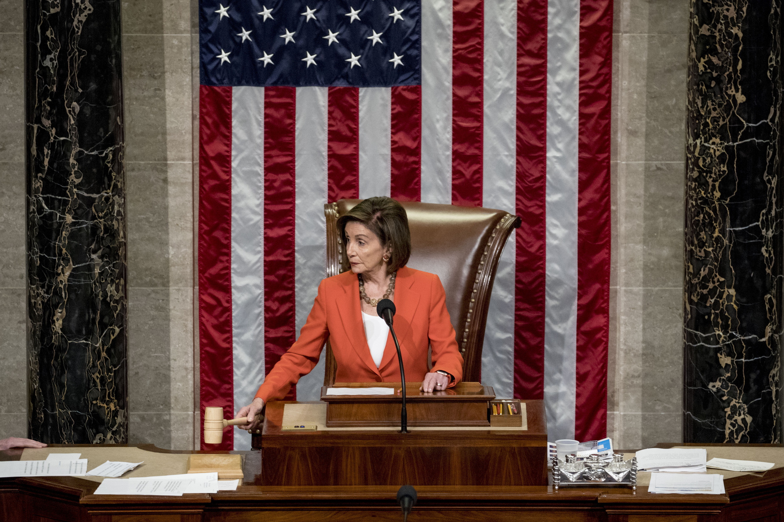 Sharply Divided House Approves Democrats' Impeachment Rules