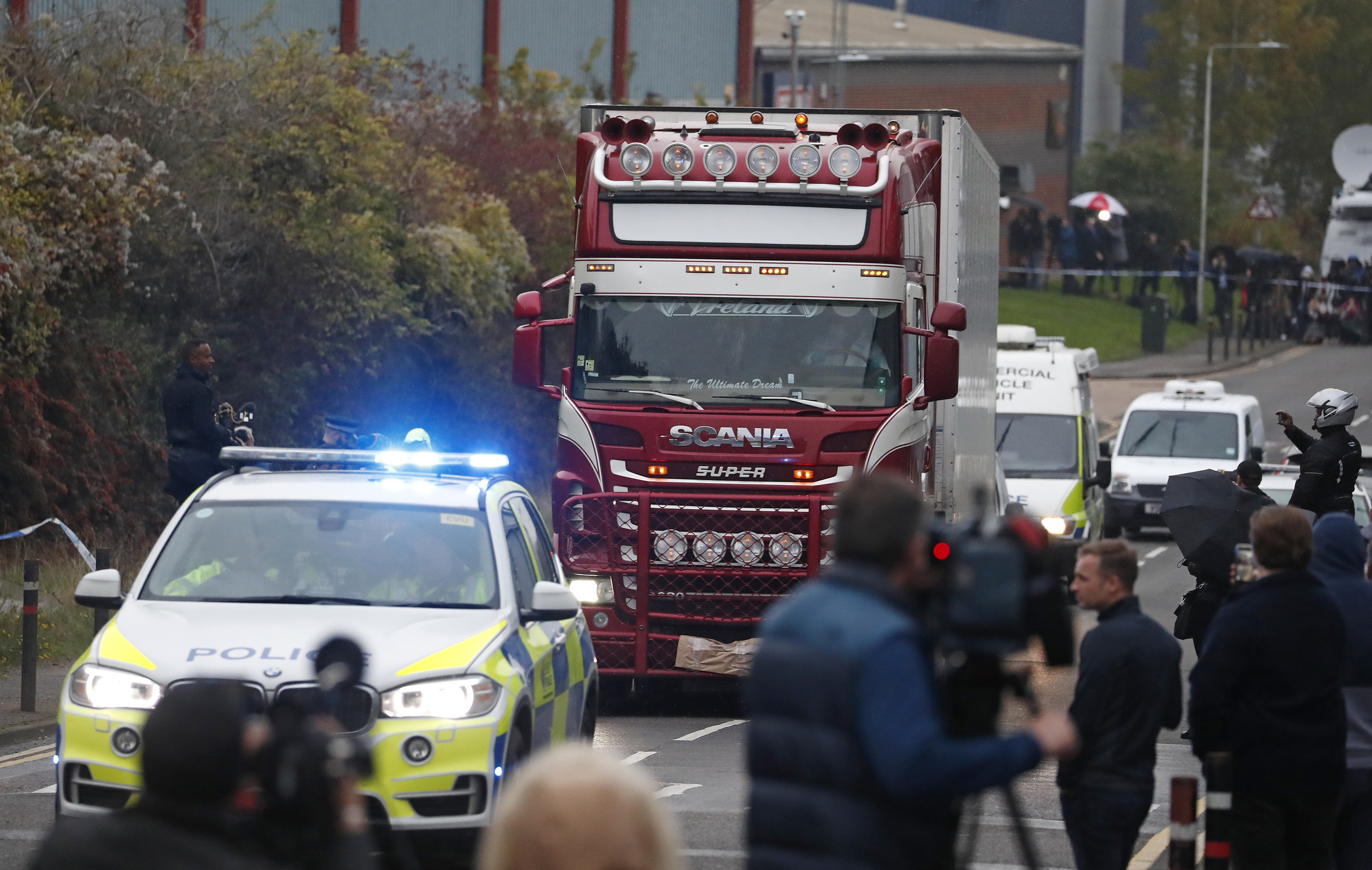 UK Police Expand Probe, Say 39 Dead In Truck All From China
