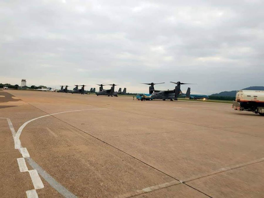 Air Force Ospreys make first-ever stopover in Vietnam