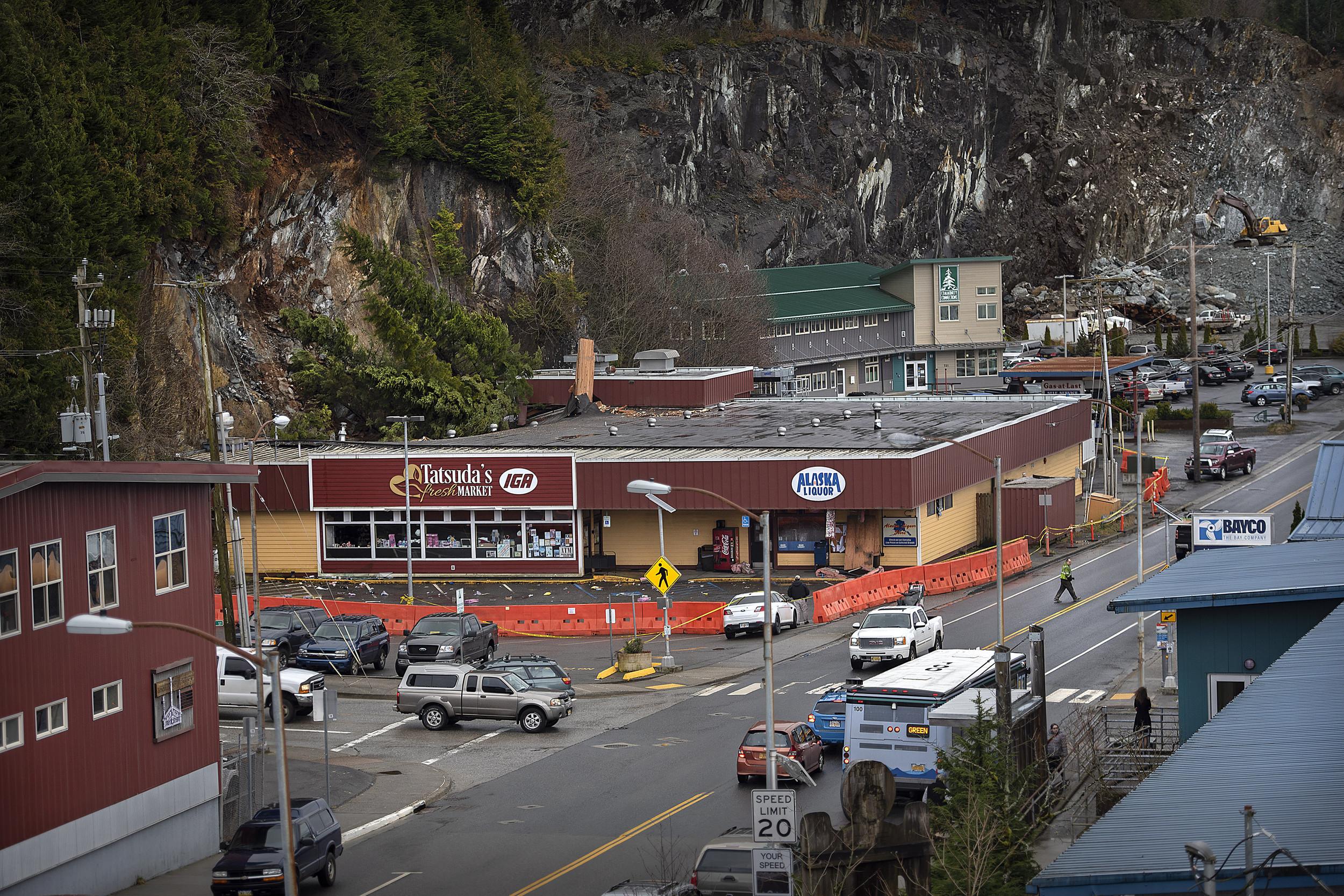 Landslide Demolishes Alaska Grocery Store; No One Injured