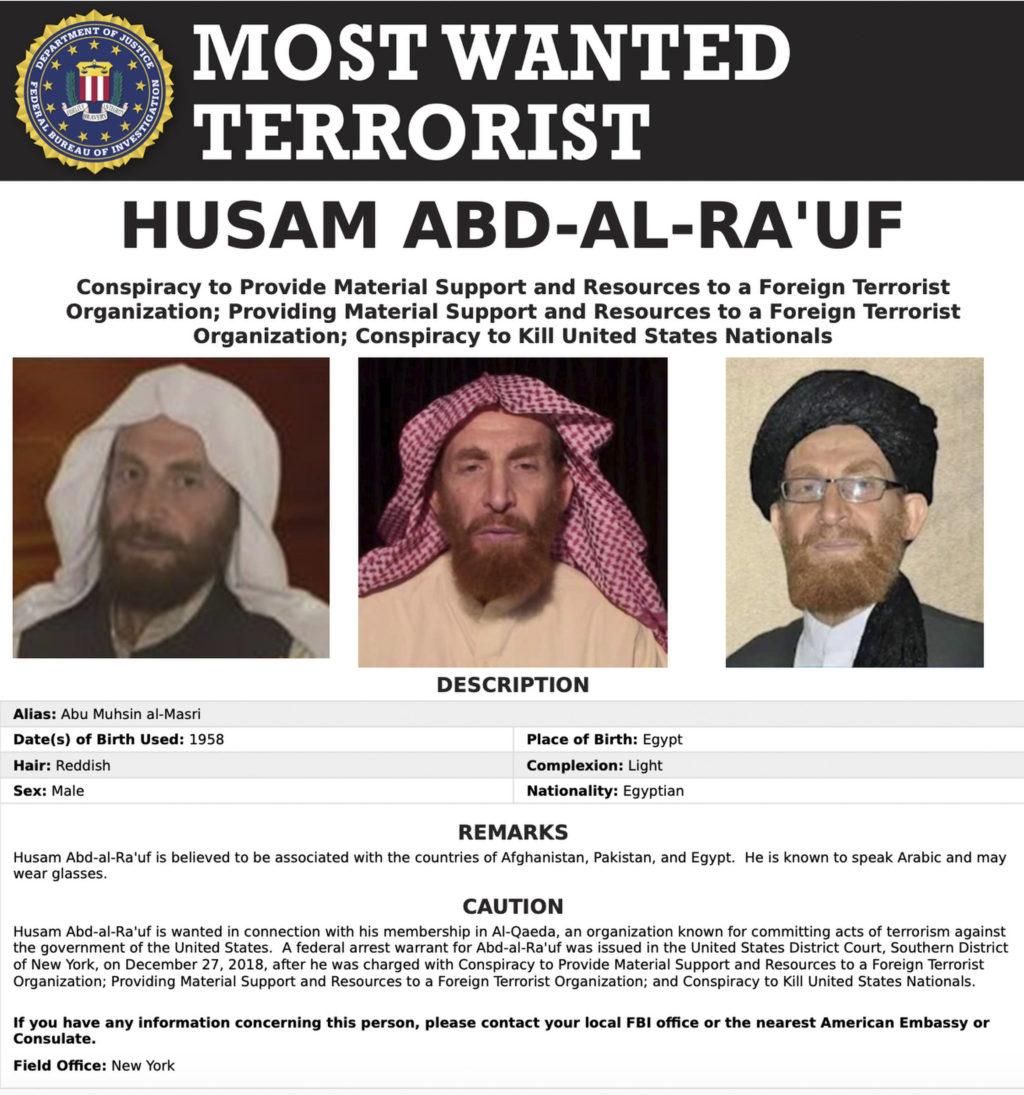 Afghanistan claims killing an al-Qaida leader wanted by FBI
