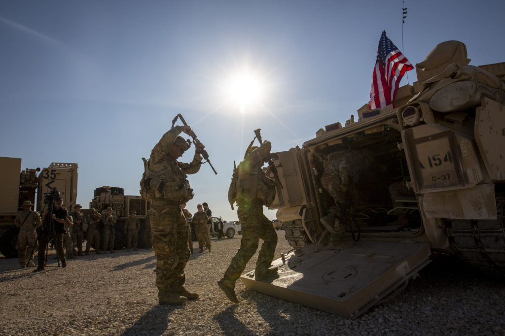 US Troops At Syria Base Say They'll Keep Pressure On IS