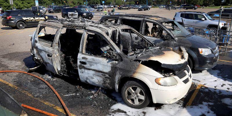 Man Cooking In Walmart Lot Sets Van On Fire, Killing Girl