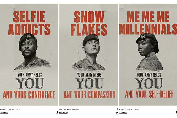 Attention, 'snowflakes' and 'me me me millennials': The British Army wants you