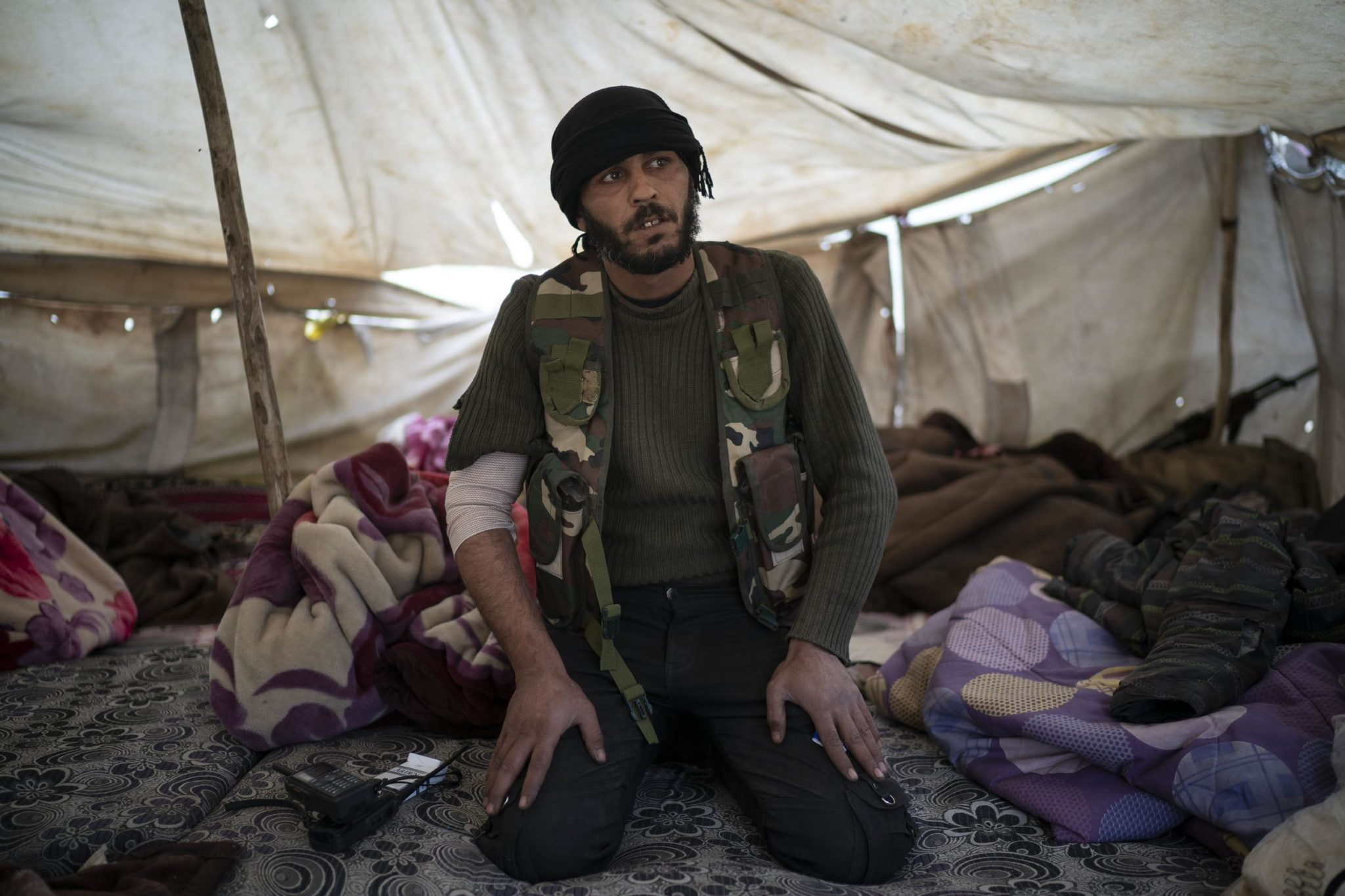 IS Militants Cling To Last Square Kilometer In Eastern Syria