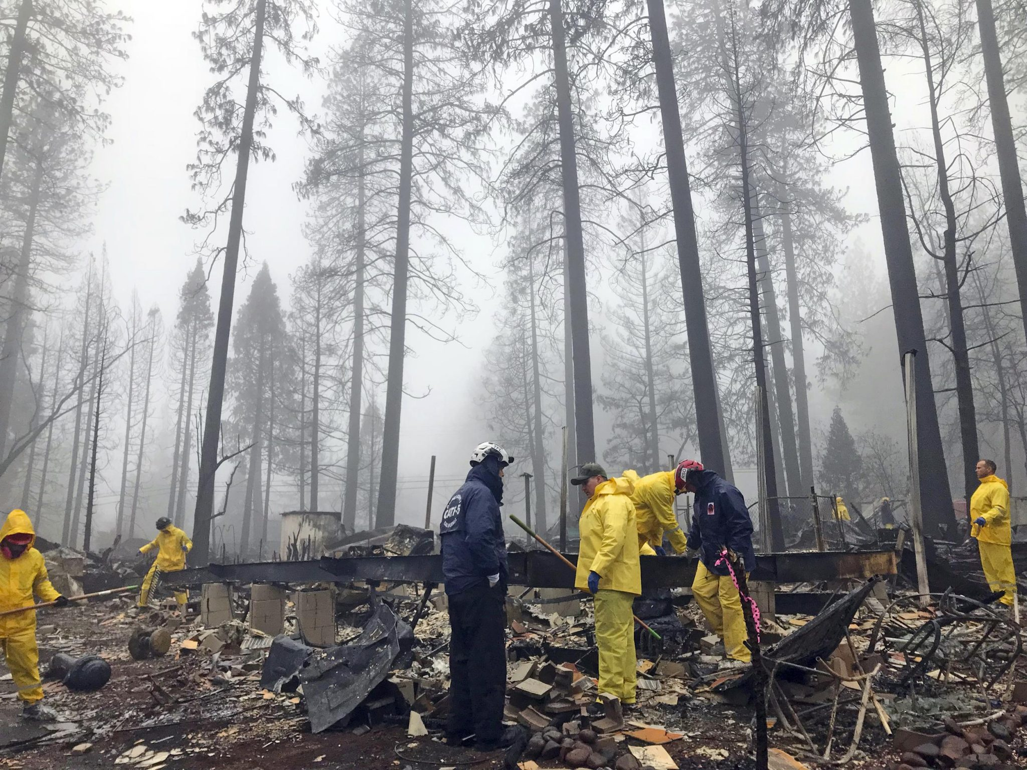 Rain Tamps Down California Fire But Turns Grim Search Soggy
