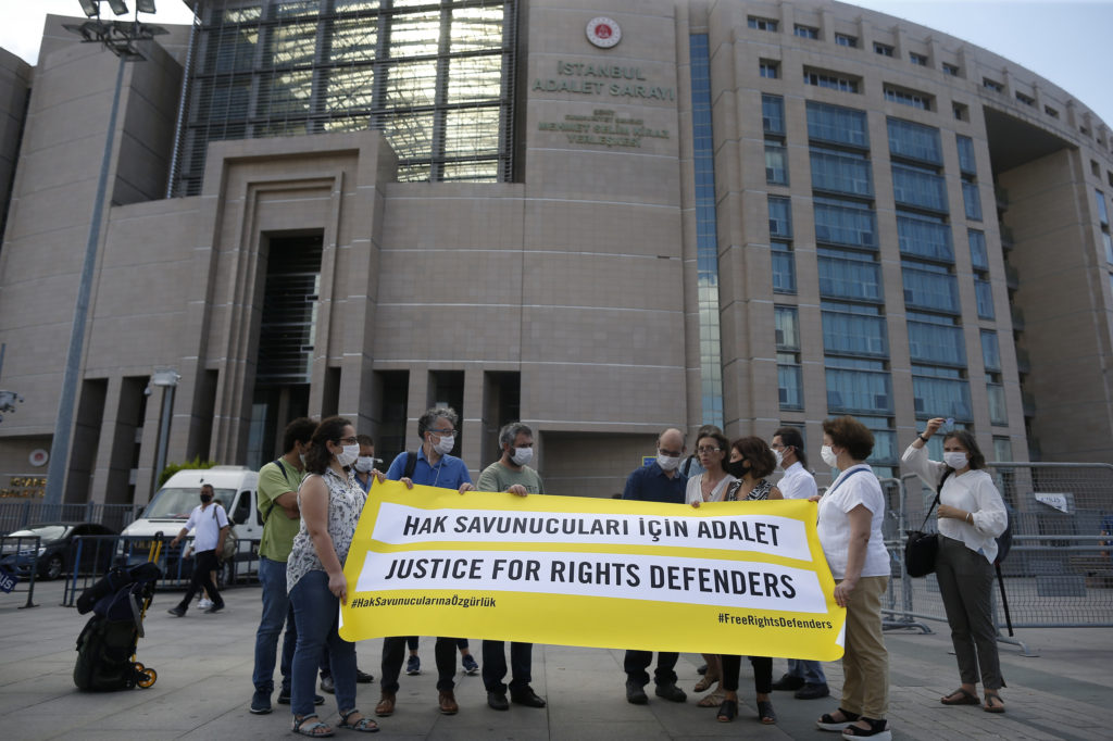 Turkey convicts 4 human rights activists of terror charges