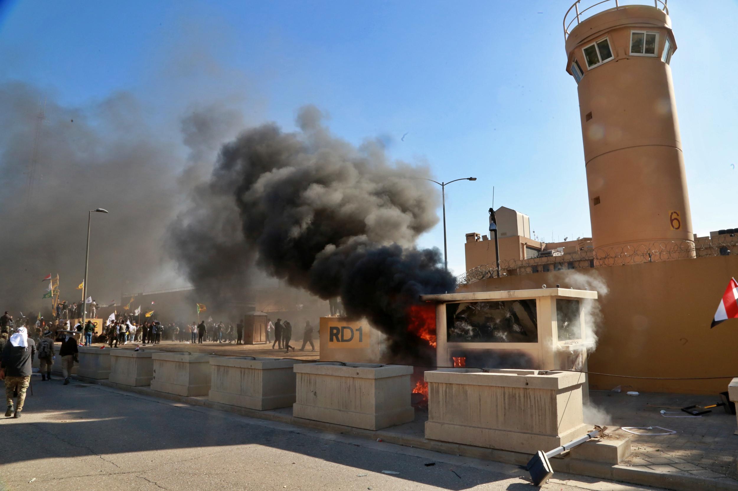 US sending more troops to Baghdad embassy