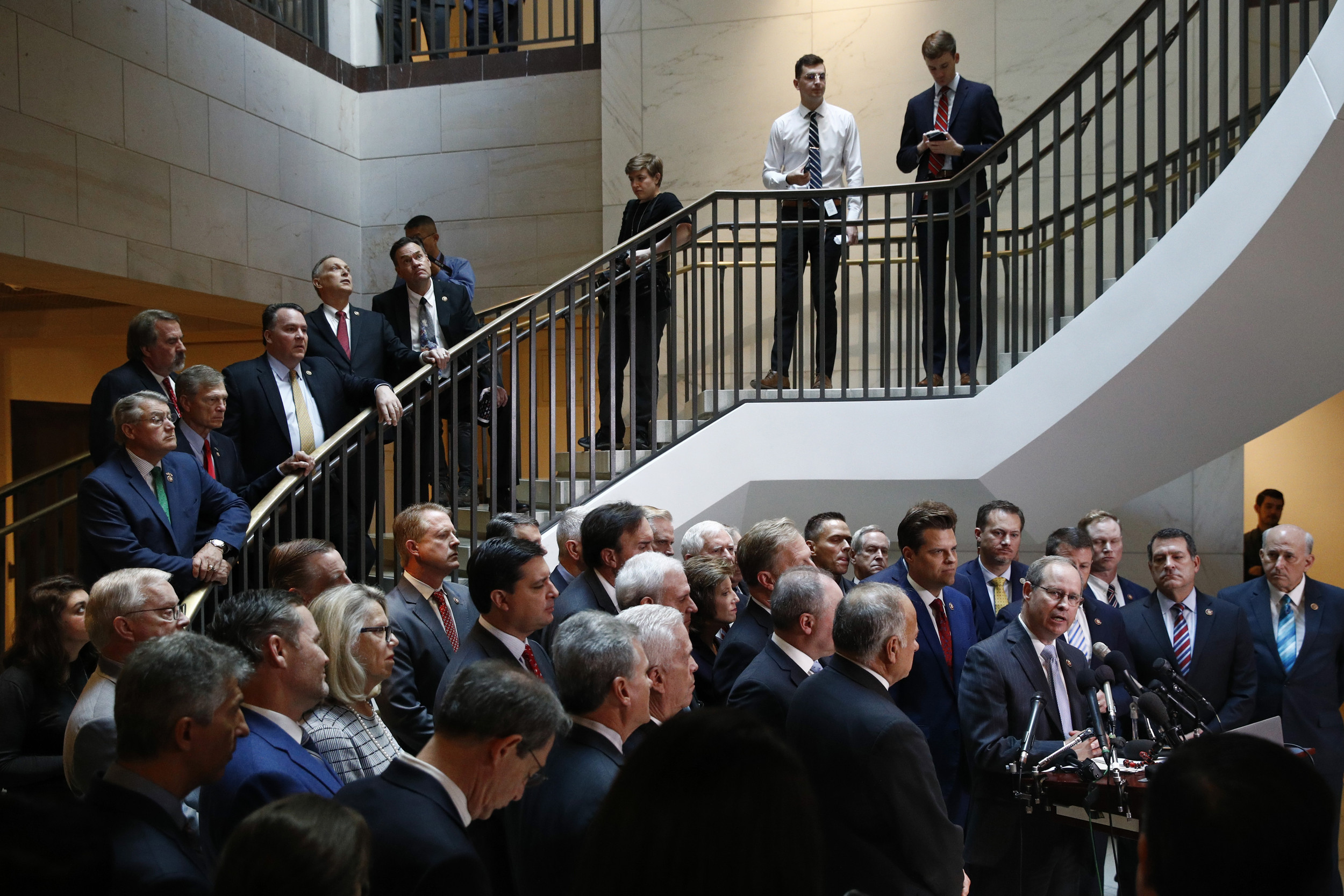 GOP Stands By Trump, Gingerly, After Diplomat's Testimony