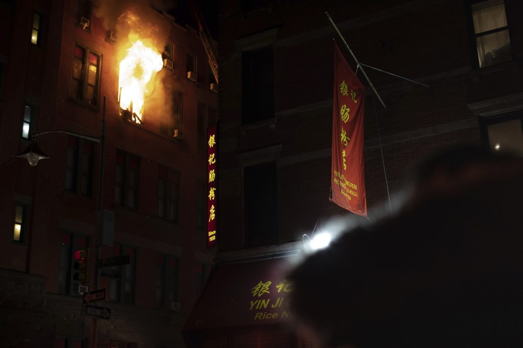 Fire Rages In Building In Heart Of Manhattan's Chinatown