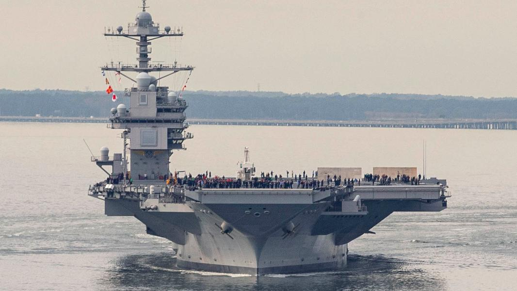 USS Gerald R. Ford Returns And Prepares For Aircraft Tests In Early 2020