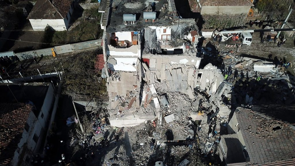 Rescuers comb building rubble after Albanian quake kills 21