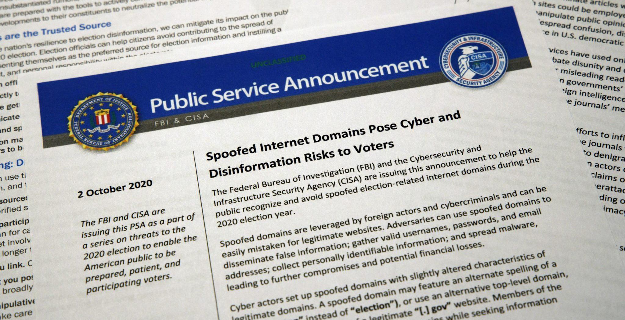 Voter beware: US tells public how to avoid election mischief