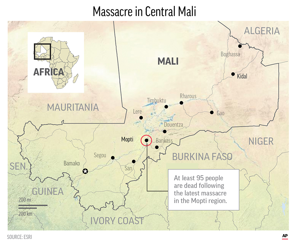 Assailants Raid Village in Mali, Killing at Least 95 People