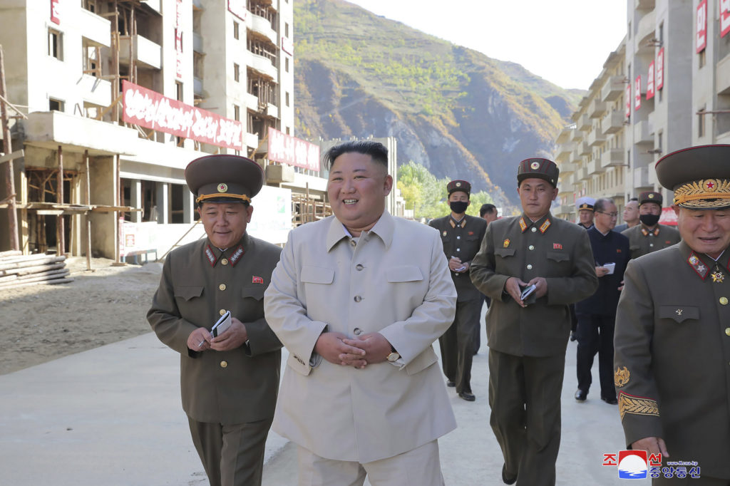 N. Korea's Kim visit typhoon-hit area, warns of 'defeatism'